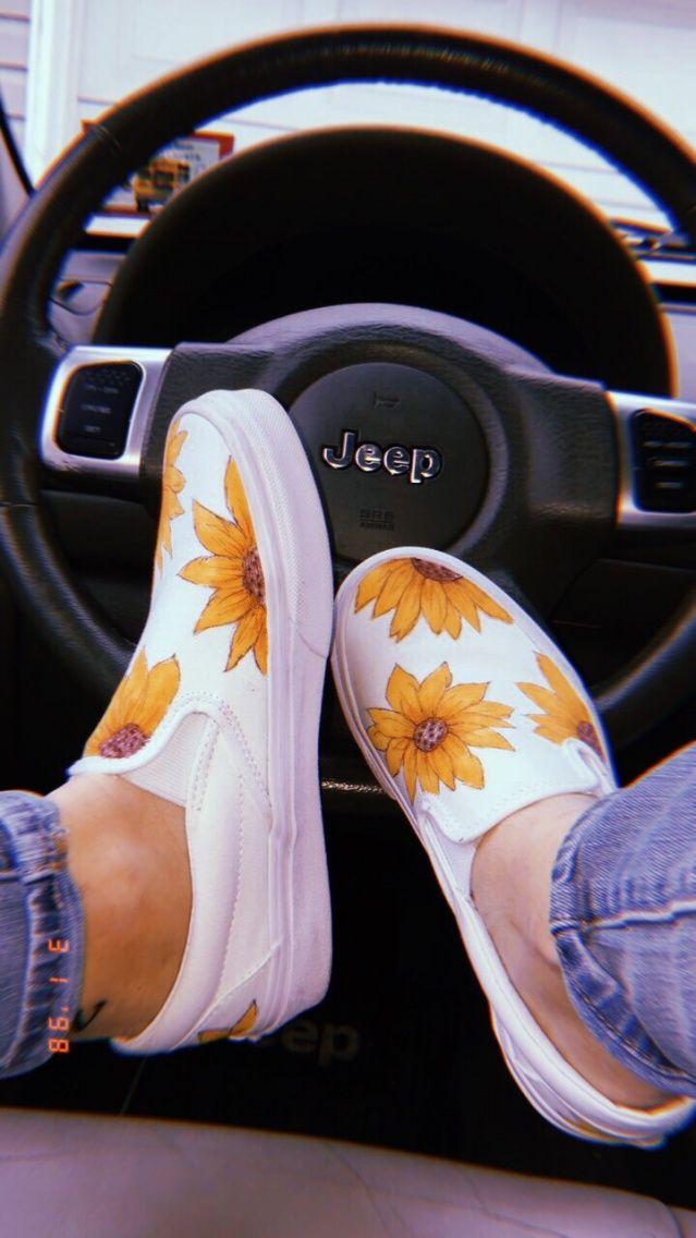 Sunflower Shoes, Summer Shoes, Custom Vans, Shoes, Vans