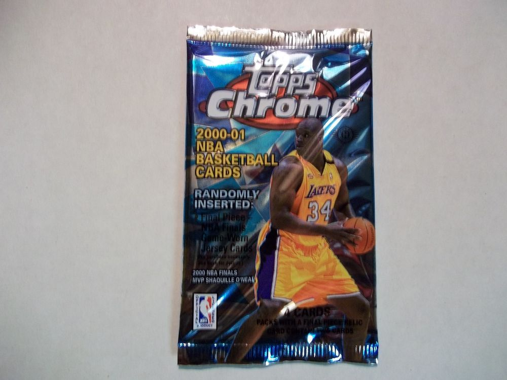 200001 topps chrome basketball cards unopened pack nba