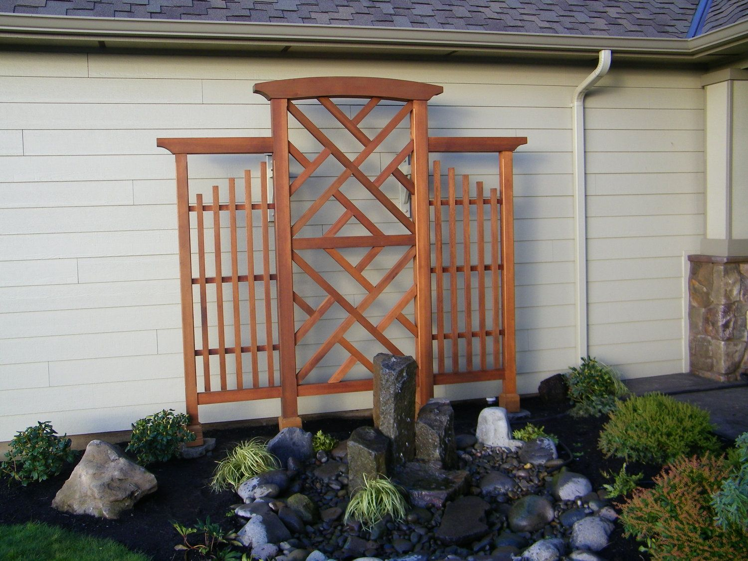 Wall Trellis Ideas Part - 15: Wall Trellis, Chippendale Style, Clear Western Red Cedar