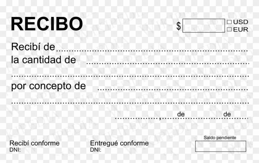 Recibo De Pago Modelo De Recibo De Pago Simple Hd Png Download Recibo Modelo Recibo Carta De Solicitud De Empleo