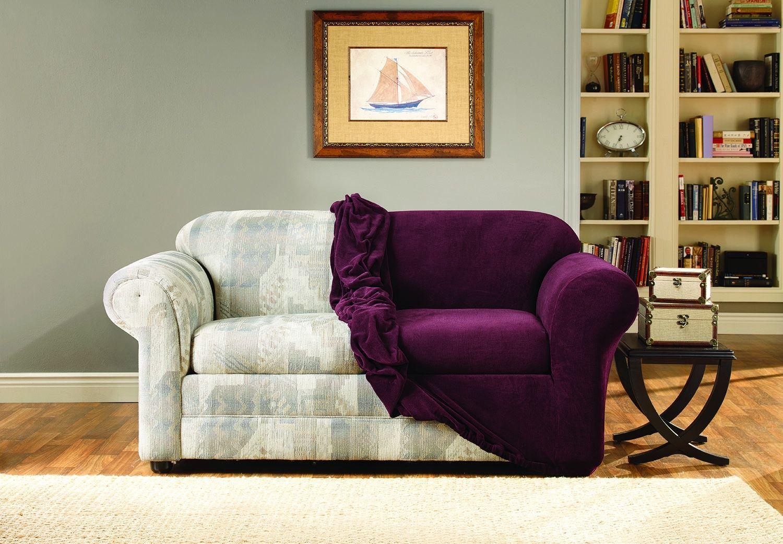Purple Velvet Sofa Covers Sofa makeover, Velvet living
