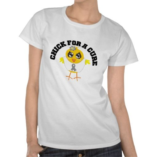 Brain Tumor Chick For A Cure Tee Shirt by www.allaboutchicksgifts.com
