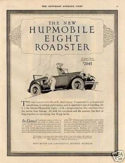 Hupmobile Eight Roadster 1926 Automobile Advertising Car Advertising Old Classic Cars