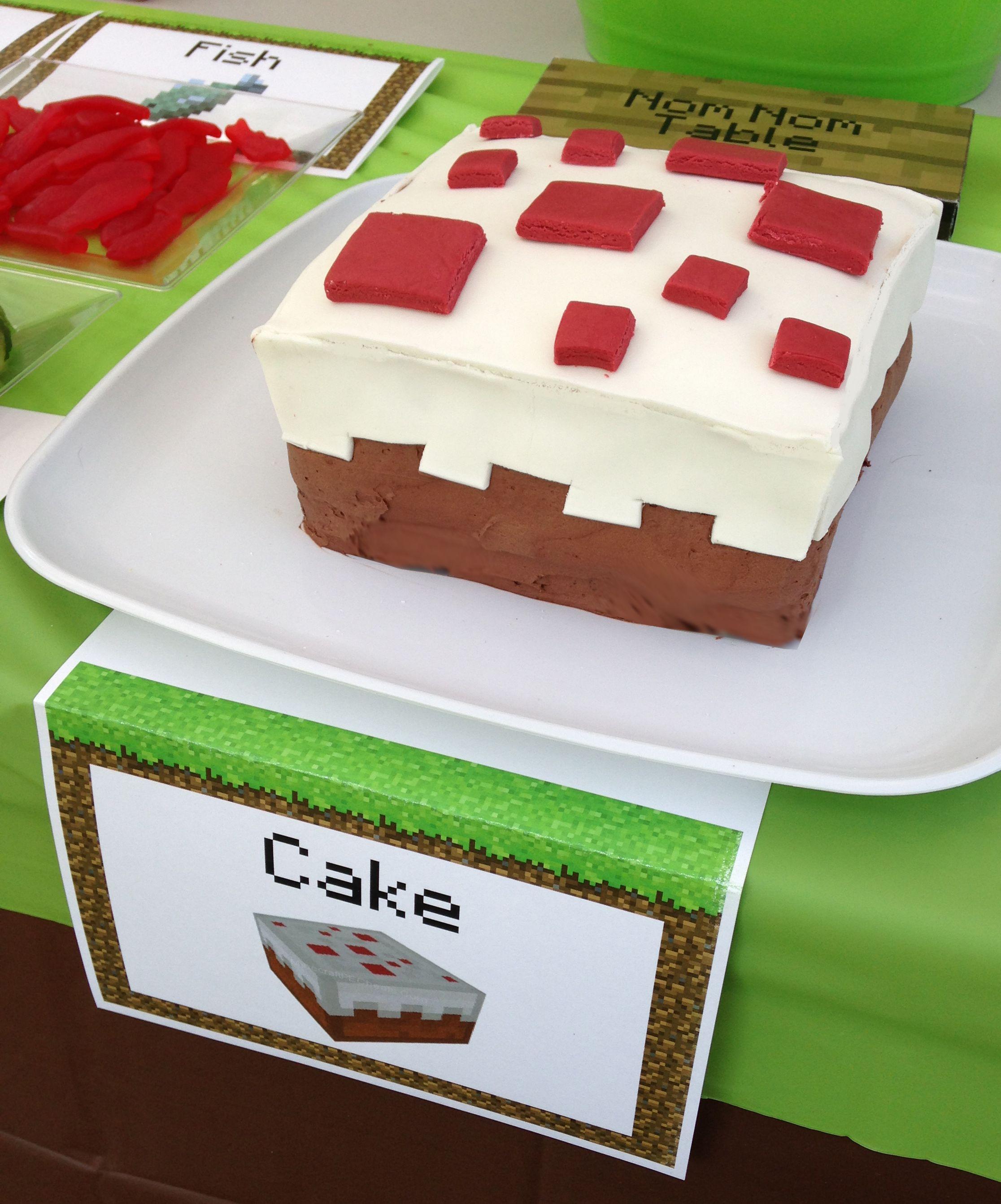 Küche Bs Wsw | How To Make This Cake Block Minecraft Birthday Cake Minecraft