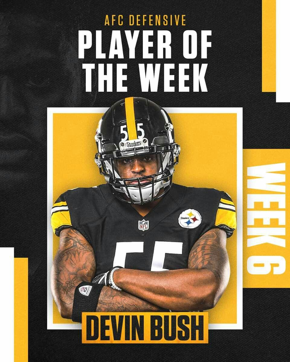 DEVIN BUSH Pittsburgh steelers football, Steelers