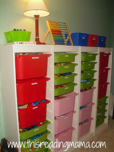 TROFAST storage unit for schoolroom & Our Schoolroom for 2012-3013 | Pinterest | Storage Homeschool and ...