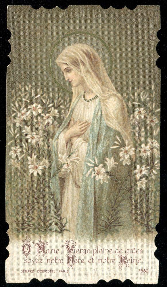 OLD HOLY CARD OF ST MARY Catholic art, Catholic images
