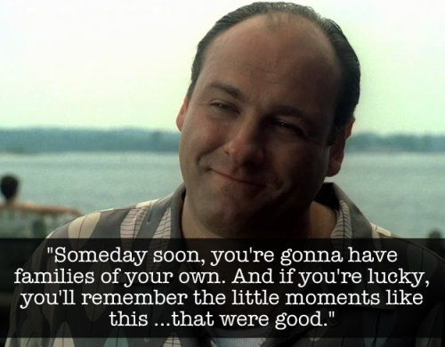 RIP James Gandolfini. The Sopranos is my favourite show and Tony was an amazing character. He has left a great legacy.