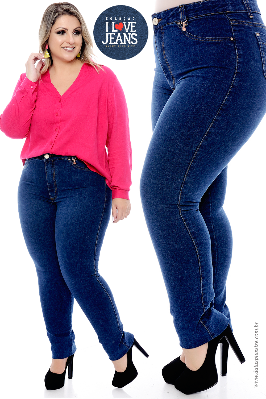 db6f4df0b Coleção I Love Jeans Plus Size - daluzplussize.com.br   I Love Jeans ...