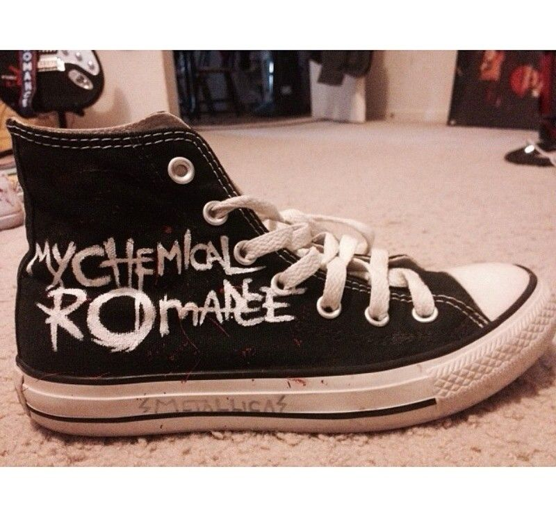 Details about Women's Panic at the Disco pop punk band converse size 8