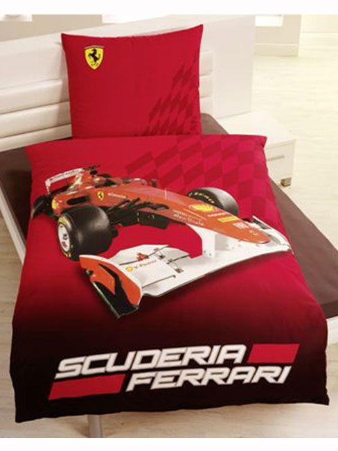 Ferrari Race Single Duvet Cover Amp Pillowcase Kids Toddler Bed Boys Duvet Cover Single