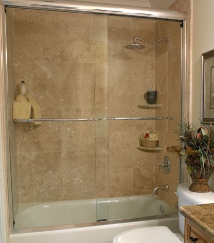 Frameless Sliding Tub Enclosures Frameless Shower Doors Semi