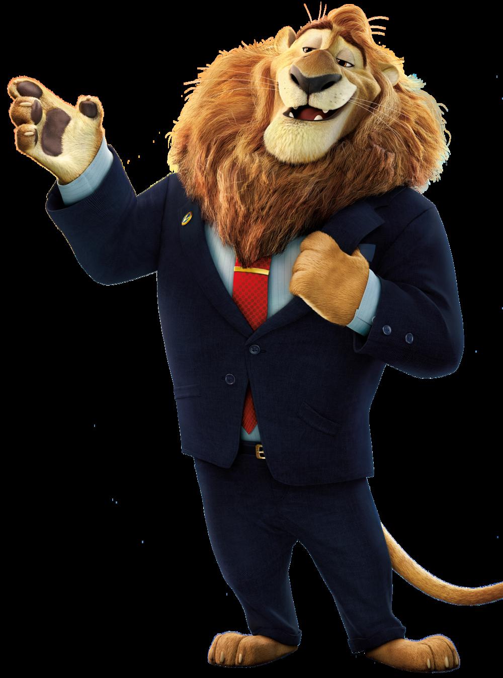 Mayor Lionheart Disney Zootopia Zootopia Characters Zootopia