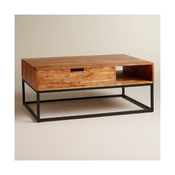 Ringgold Extendable Coffee Table With Storage: Cost Plus World Market Wood Silas Storage Coffee Table