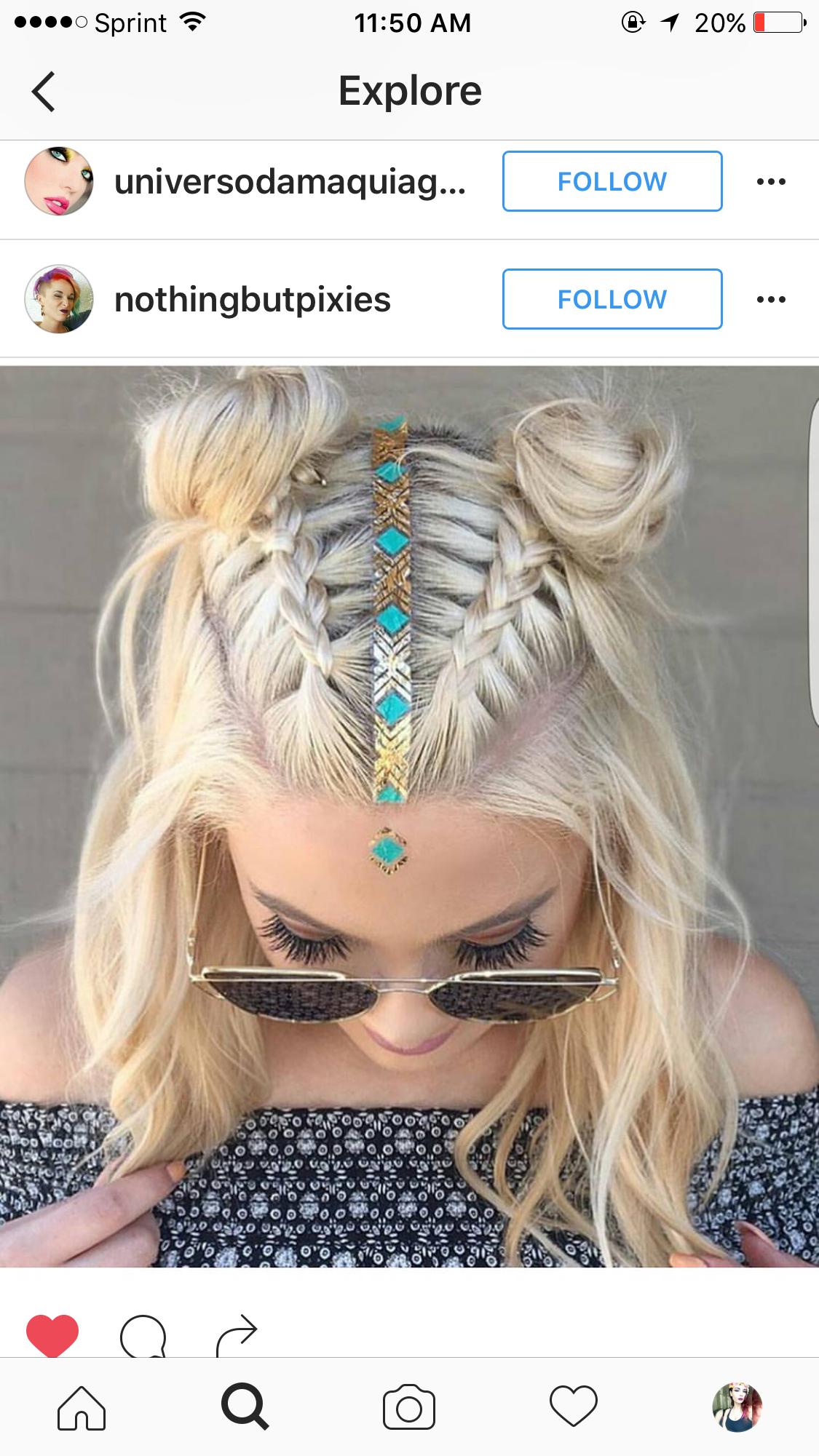 Two Top Braids With Center Head Piece Hair Styles Medium Length Hair Styles Hair Lengths
