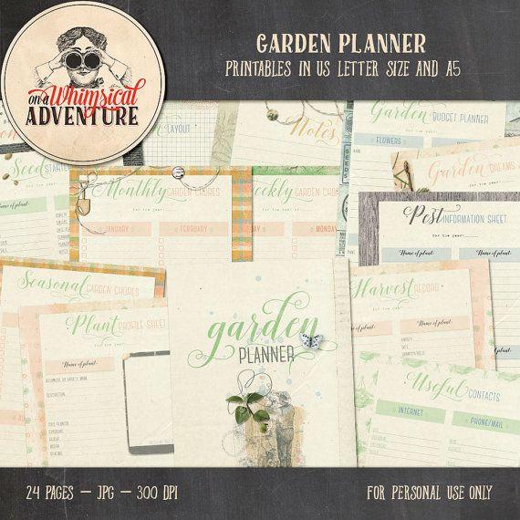 Printable Garden Planner, Seed Starter Log, Harvest Tracker Log ...