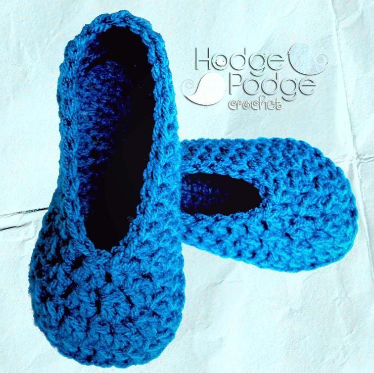 Simple Toddler Slippers   Crochet toddler, Slippers, Baby ...