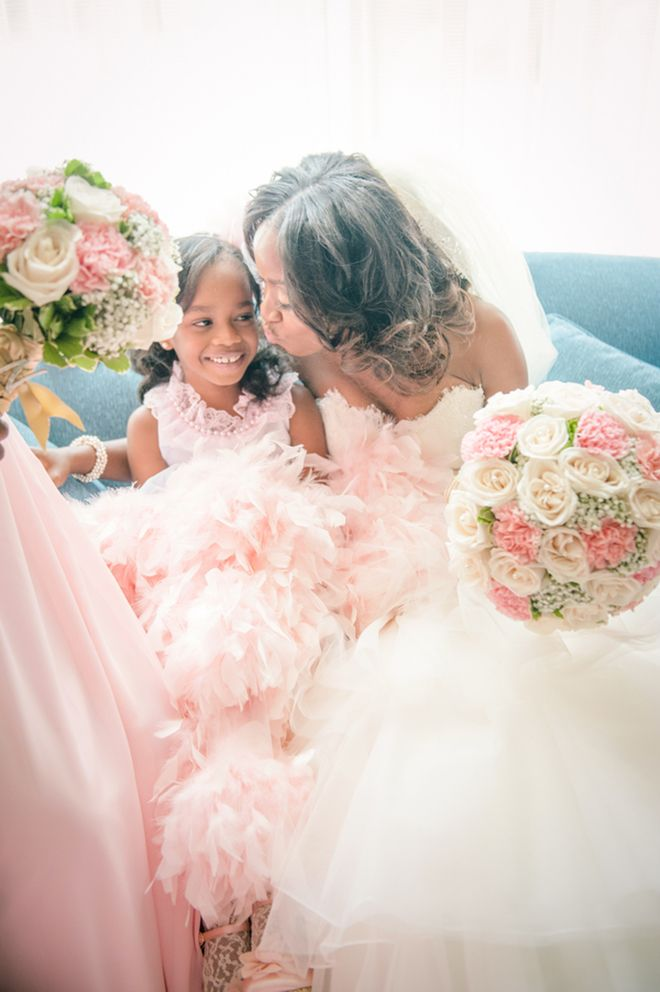 Bride and flowergirl ~ Lash To Lens Photography | bellethemagazine.com