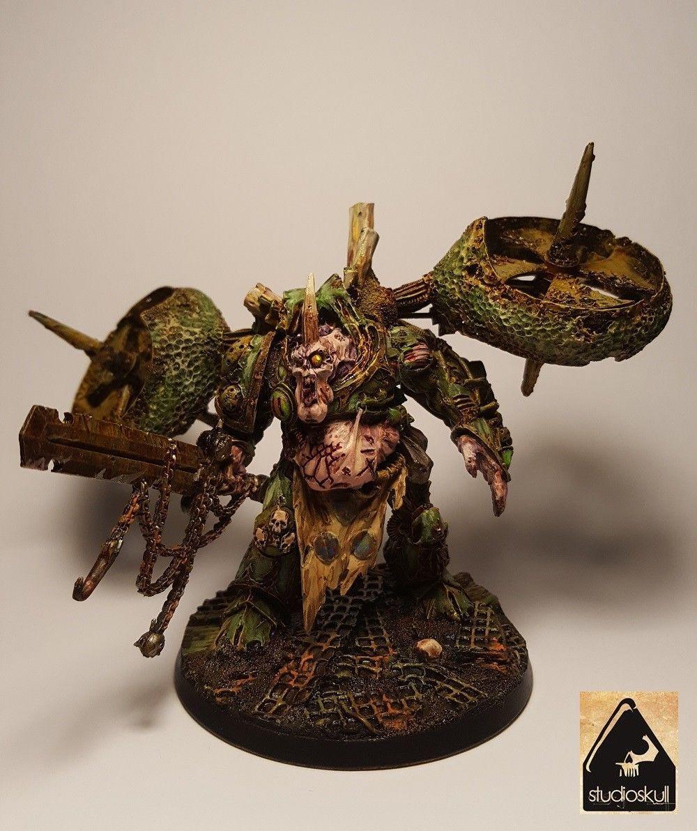 Warhammer 40K Painted Action Figure Nurgle Daemon Prince 28 mm