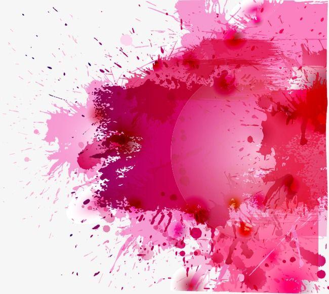 Ink Splatter Effect Pink Watercolor Splashing Ink Png Transparent Clipart Image And Psd File For Free Download Ink Splatter Watercolor Splash Png Watercolor Splash