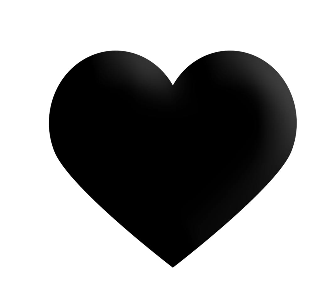 Free Download High Quality Black Heart Png Transparent Vector Image It Is Best To Use In Making White Board Animations Black Heart Transparent Background Png