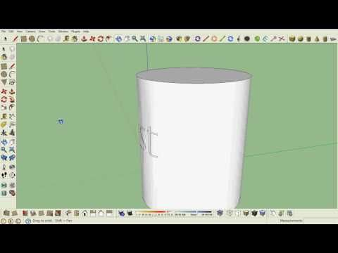 Google Sketchup Tutorial How To Get Text On A Curved Surface