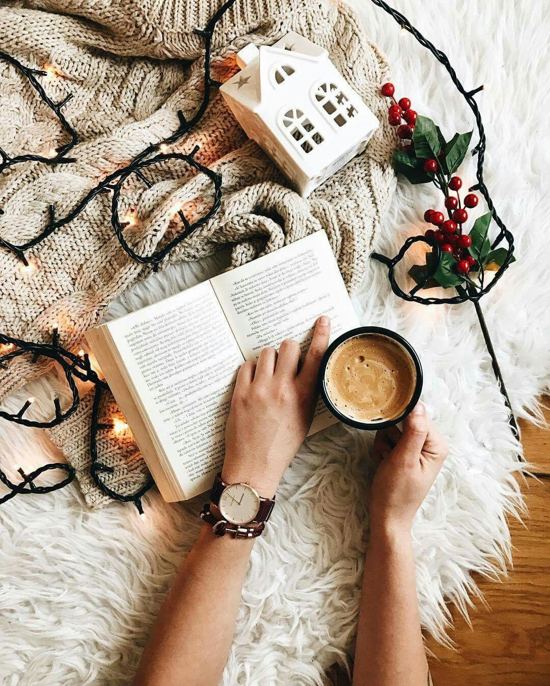 Happiness Is A Cup Of Coffee And A Good Book Christmas Inspiration Christmas Aesthetic Christmas Mood