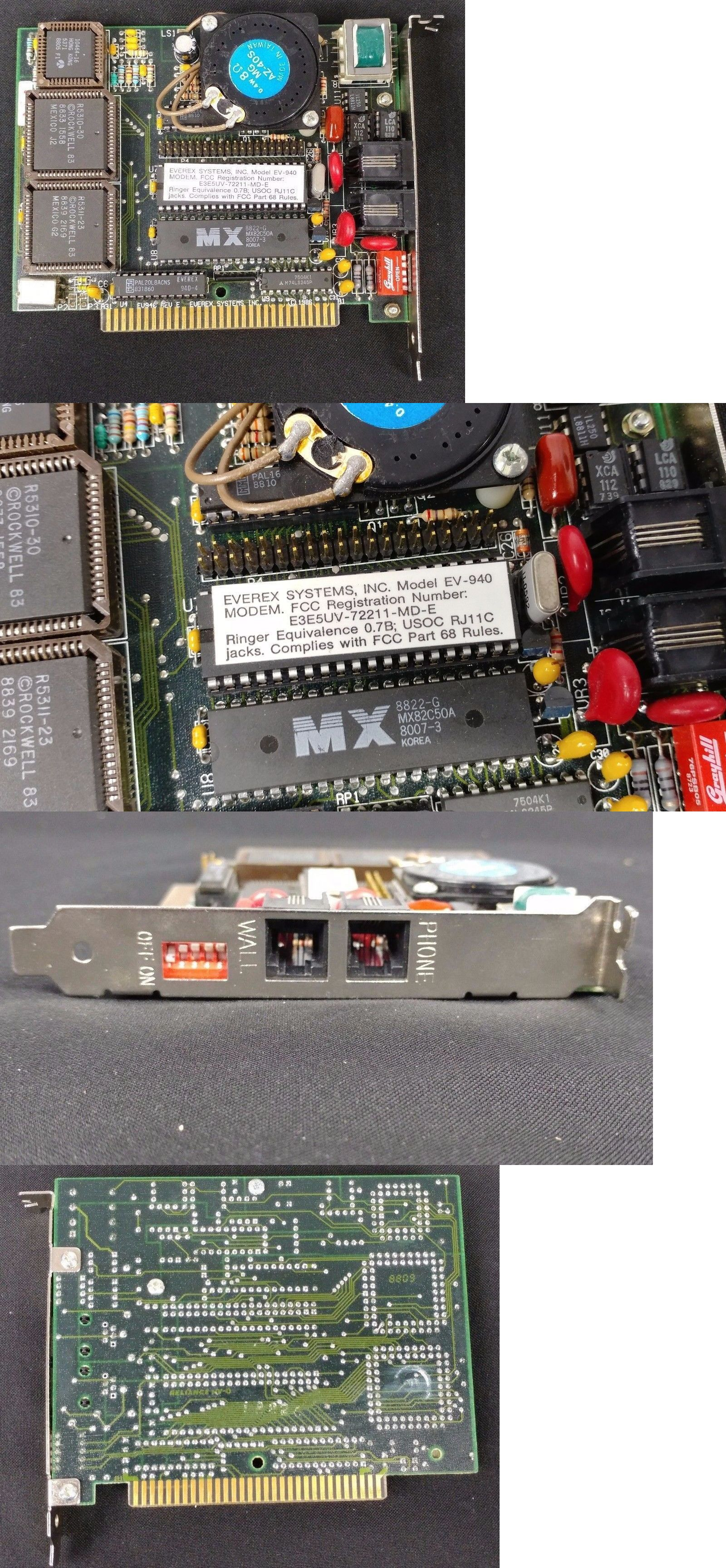 Modem Cards 44940 Vintage Everex Isa 2400 Ev 940 Baud Data Fax Where To Buy Circuit Boards