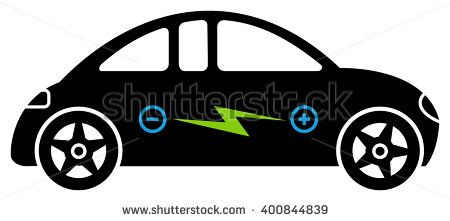 Electric Car Electric Car With Battery Modern Electric Car