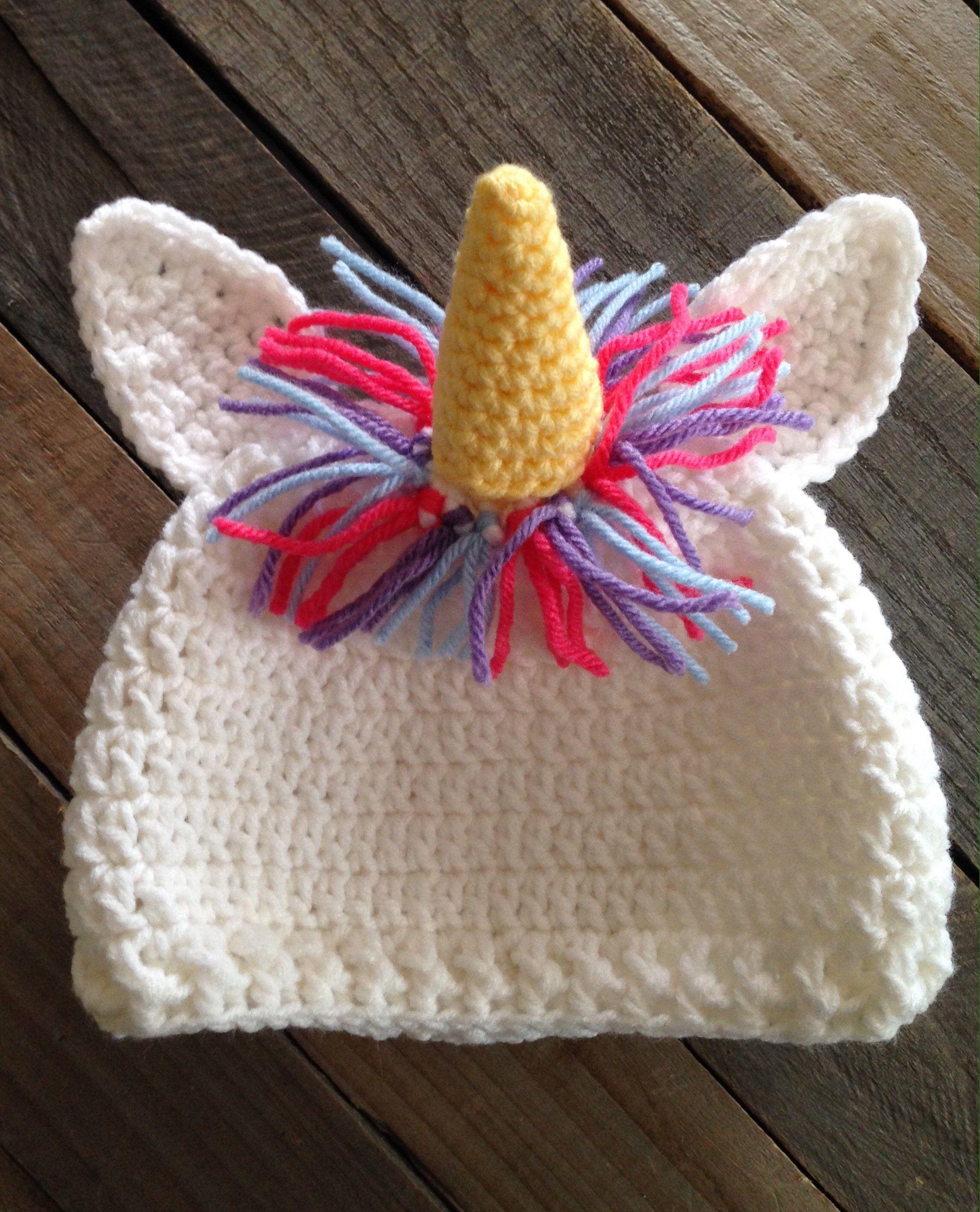 3b408b8de30 Crochet  unicorn hat  etsy  unicornparty  unicorngifts