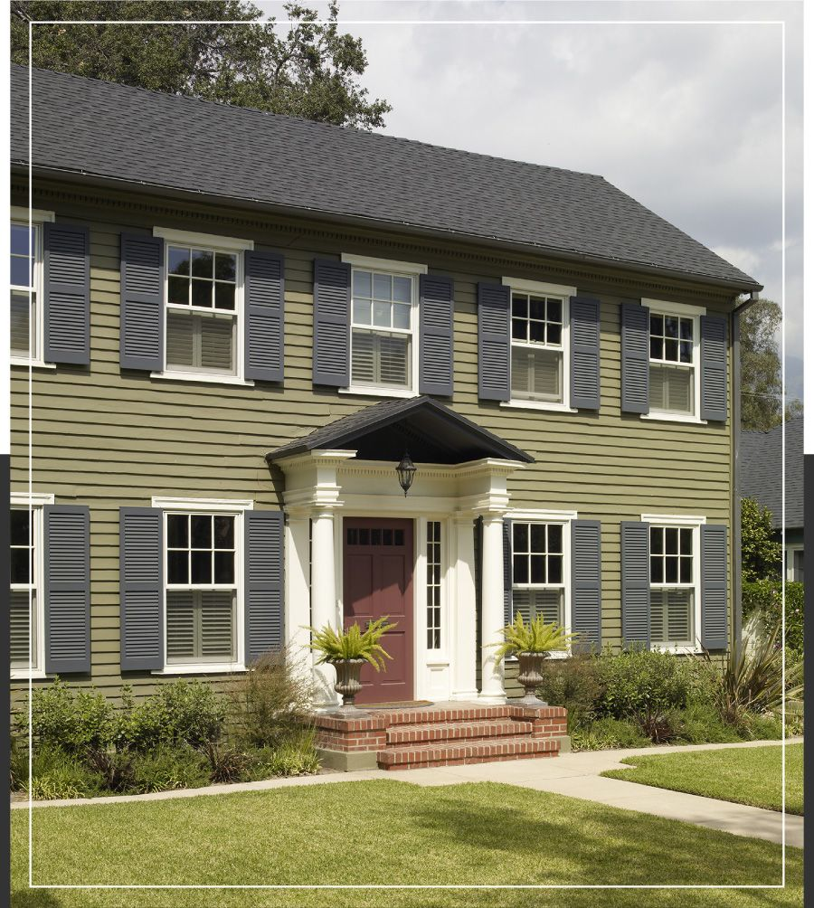 create a stately georgian or federal style exterior behr on behr exterior house paint simulator id=59806