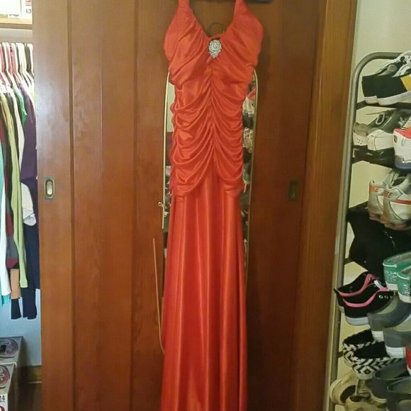 Prom dress Burnt orange fitted prom dress hyphen Dresses Prom