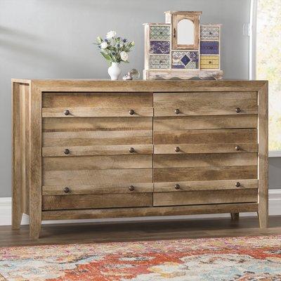 Greyleigh Riddleville 6 Drawer Double Dresser Color Craftsman Oak