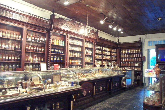 Vintage Pharmacy The Mahogany Cabinets Filled With