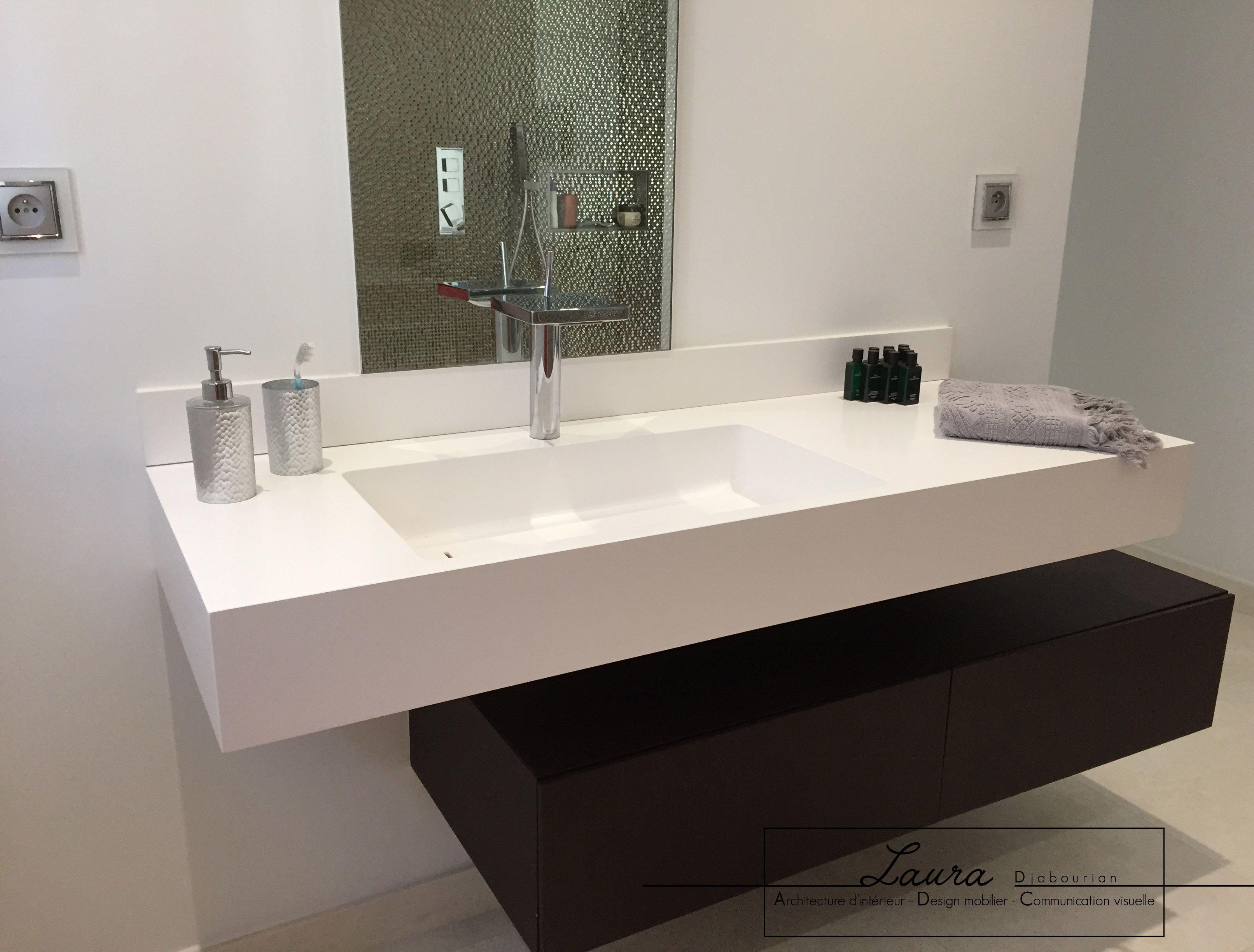 Salle de bain cr ation sur mesure du meuble de salle de Creation meuble salle de bain