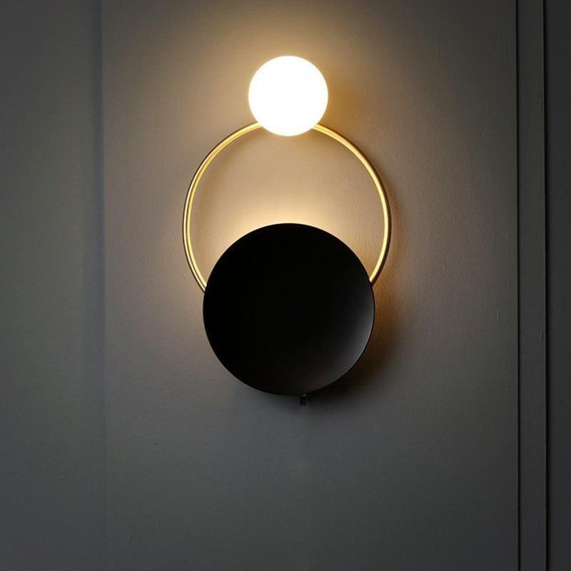 Cyrus Minimalist Circular Art Deco Led Wall Lamp Wandleuchte