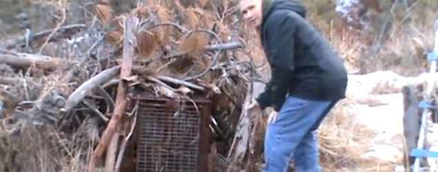 Fox trap in a wooded area 300 yards near Rapid City, S.D. (via Grind)