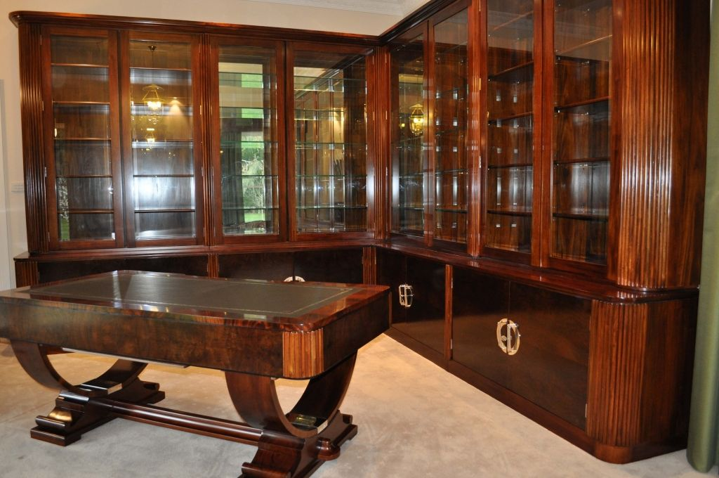 Art Deco Desk Style China Cabinet The Office Bookcases Desks Tables Chinese Libraries