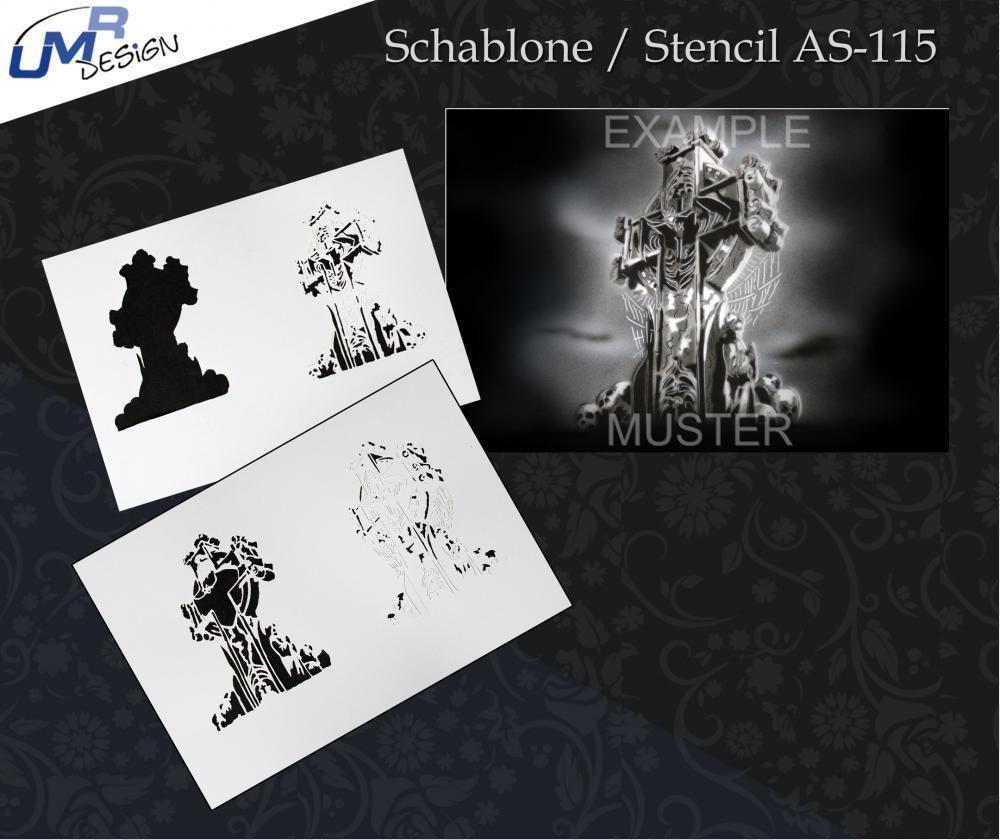 Step by Step Airbrush Stencil AS-210 Kralle ~ Stencils ~ UMR-Design
