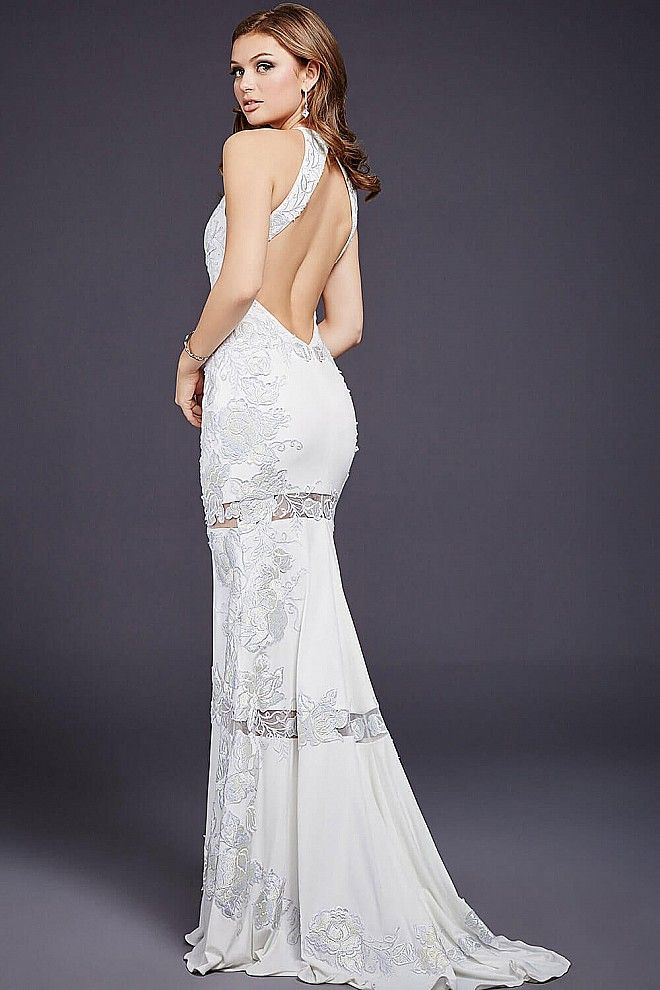 White Floor Length Sexy Dress 36066 | dress | Pinterest
