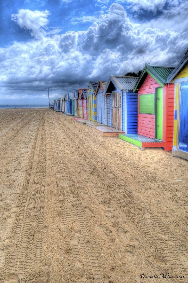 Brighton Bathing Boxes HDR 2 by DanielleMiner ~ Melbourne, Australia