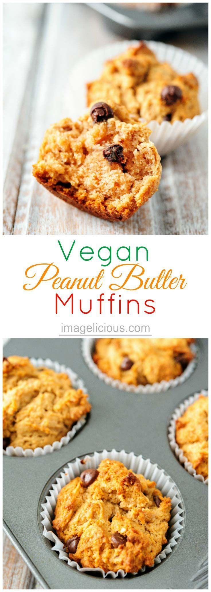 Vegan Peanut Butter Muffins With Chocolate Chips Imagelicious Com Recipe Vegan Peanut Butter Peanut Butter Muffins Snacks