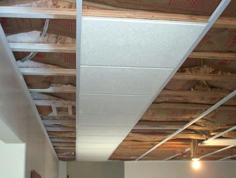 Alternative To Drop Ceiling So You Don T Loose The Head Room Can Be Used With Most Tiles