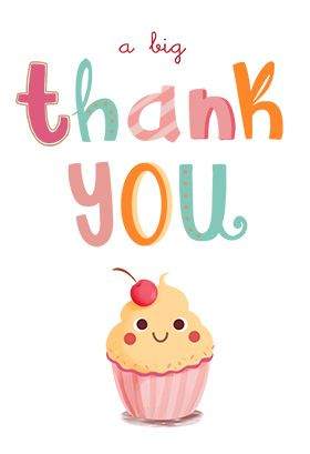 A Big Thank You printable card Customize add text and photos Print for free
