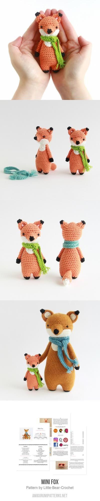 Mini Fox Amigurumi Pattern #crochet #crafts | tejido | Pinterest ...