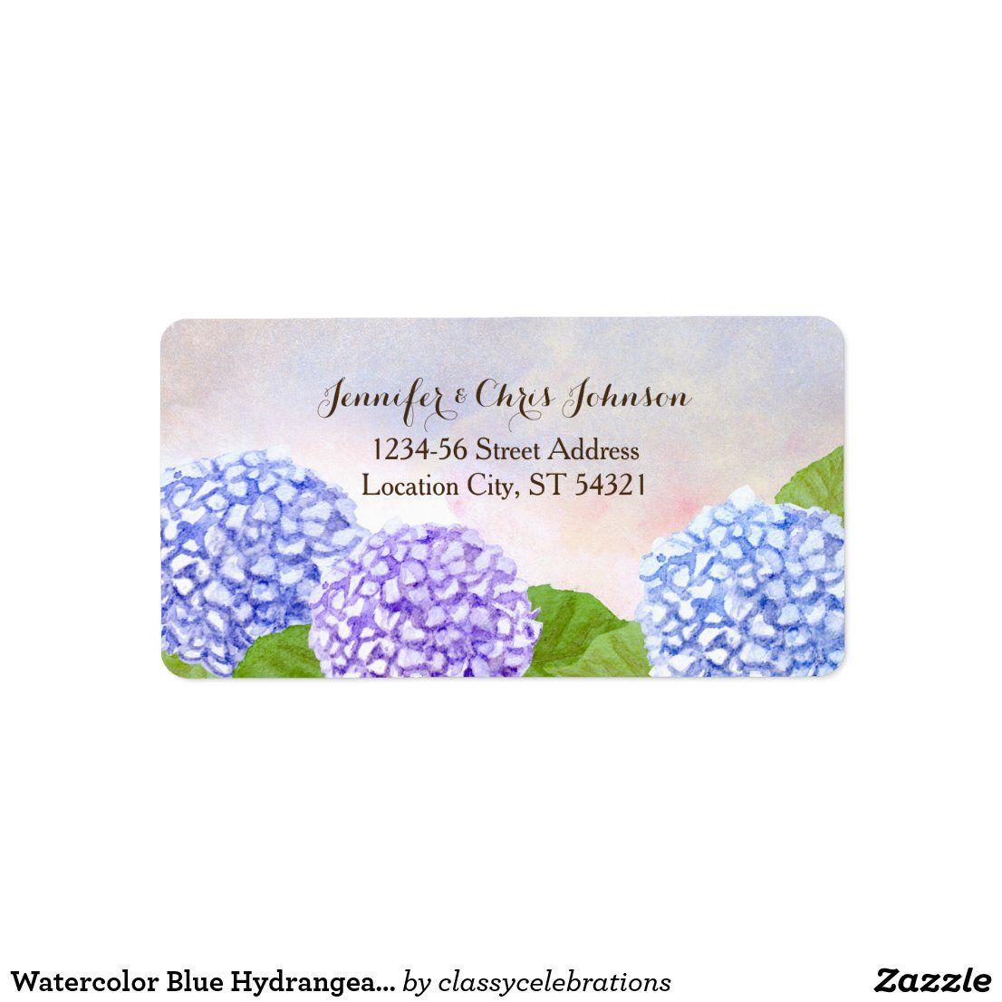Address Labels or Stickers Hydrangeas