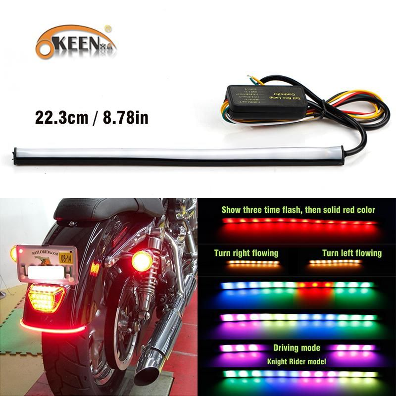 2019 23cm Sequential Running Rgb Red Amber Turn Signal Led Motorcycle Led Stop Light Strip Brake Light Strip 12v Led For Moto From Sara1 Stop Light Led 12v Led