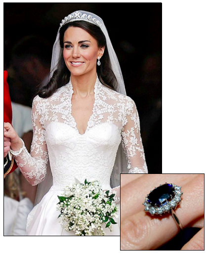 kate middleton was famously presented with princess dianas sapphire engagement ring when william proposed in 2009 - Princess Kate Wedding Ring