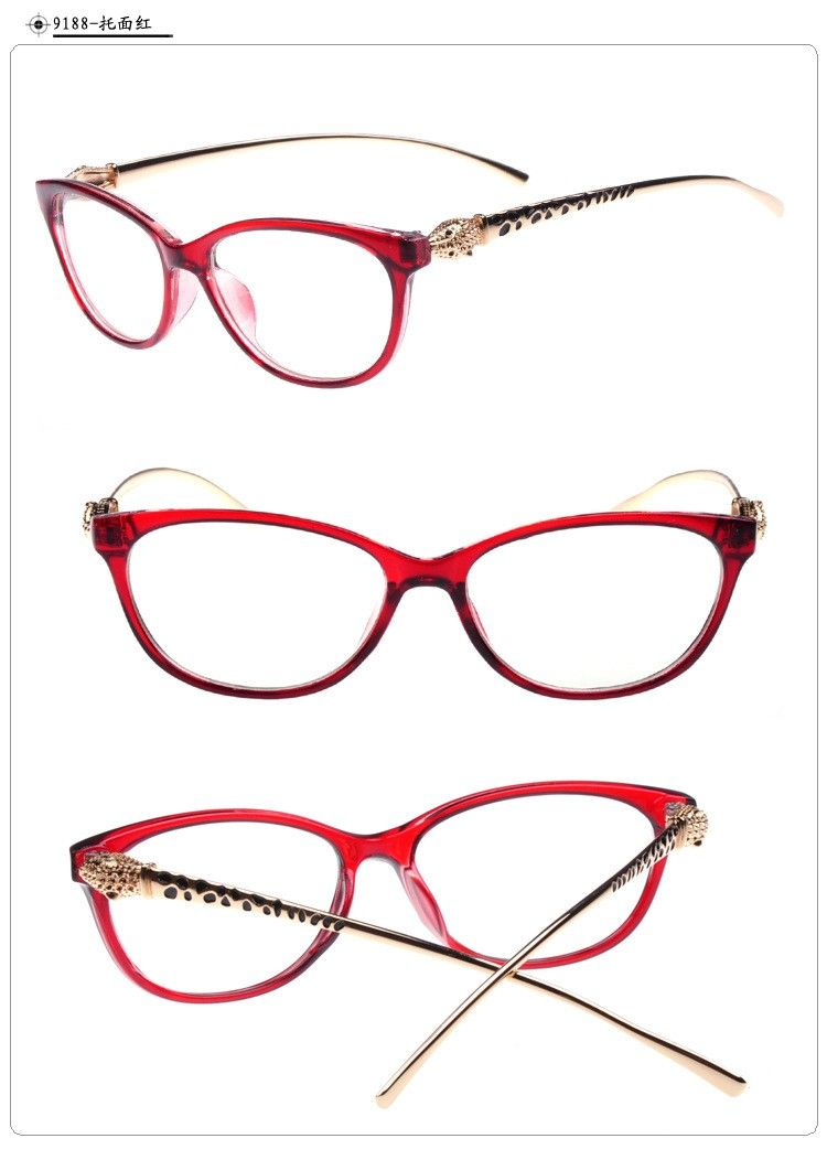 d998e8e6af Fashion cheetah earstems glasses frames women ladies leopard decorative  reading glasses frames no degree