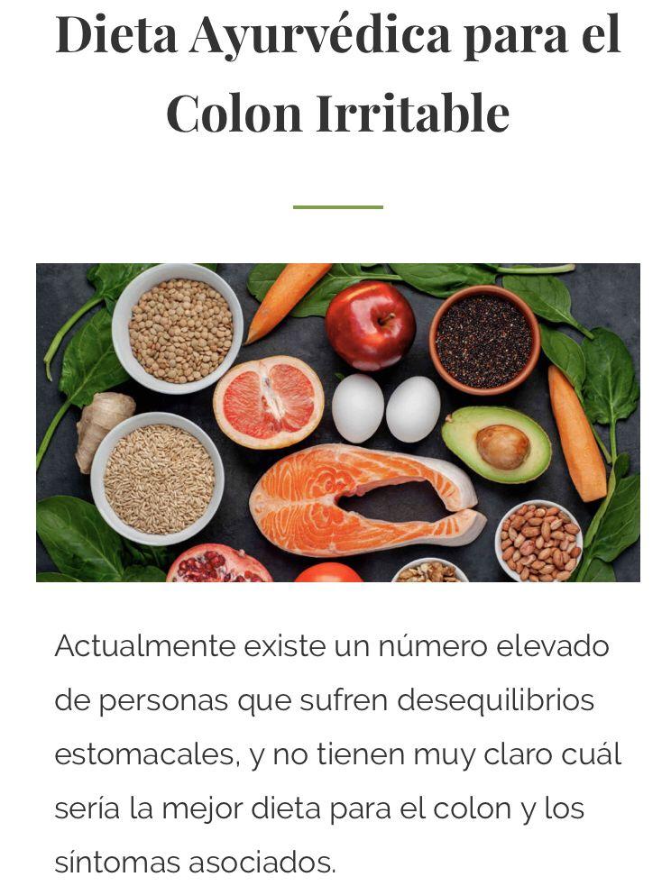 Dieta Ayurvedica Para El Colon Irritable Dieta Para El Colon Alimentacion Colon Irritable